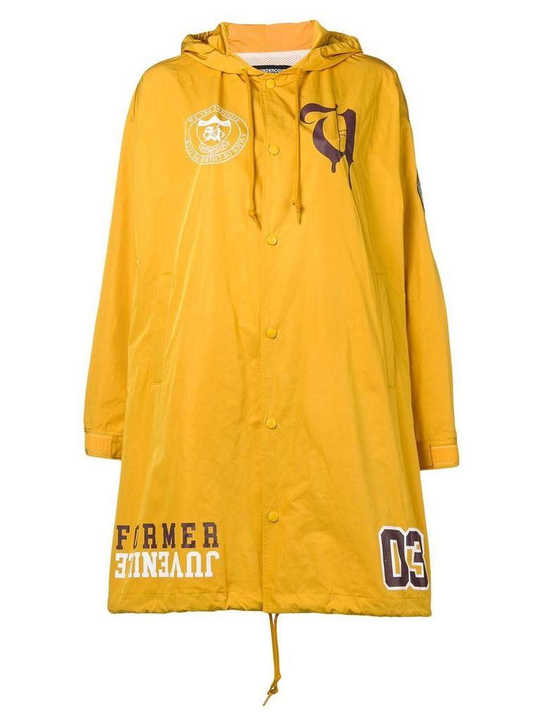 Undercover waterproof patch coat - Yellow