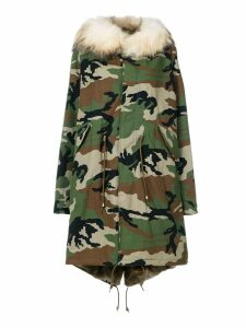 Furs66 camouflage parka coat - Green