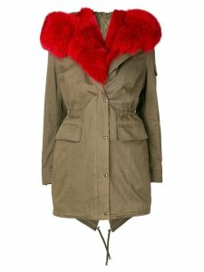 Philipp Plein fur trim parka - Green