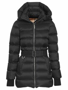 Burberry belted puffer coat - Black