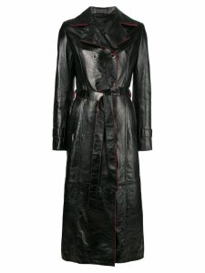 Manokhi contrast trim trench coat - Black