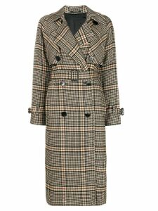 Tagliatore check trench coat - Neutrals