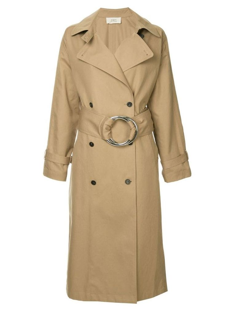 Ports 1961 O-ring belted trench coat - Brown