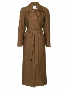 Christopher Esber belted trench coat - Brown