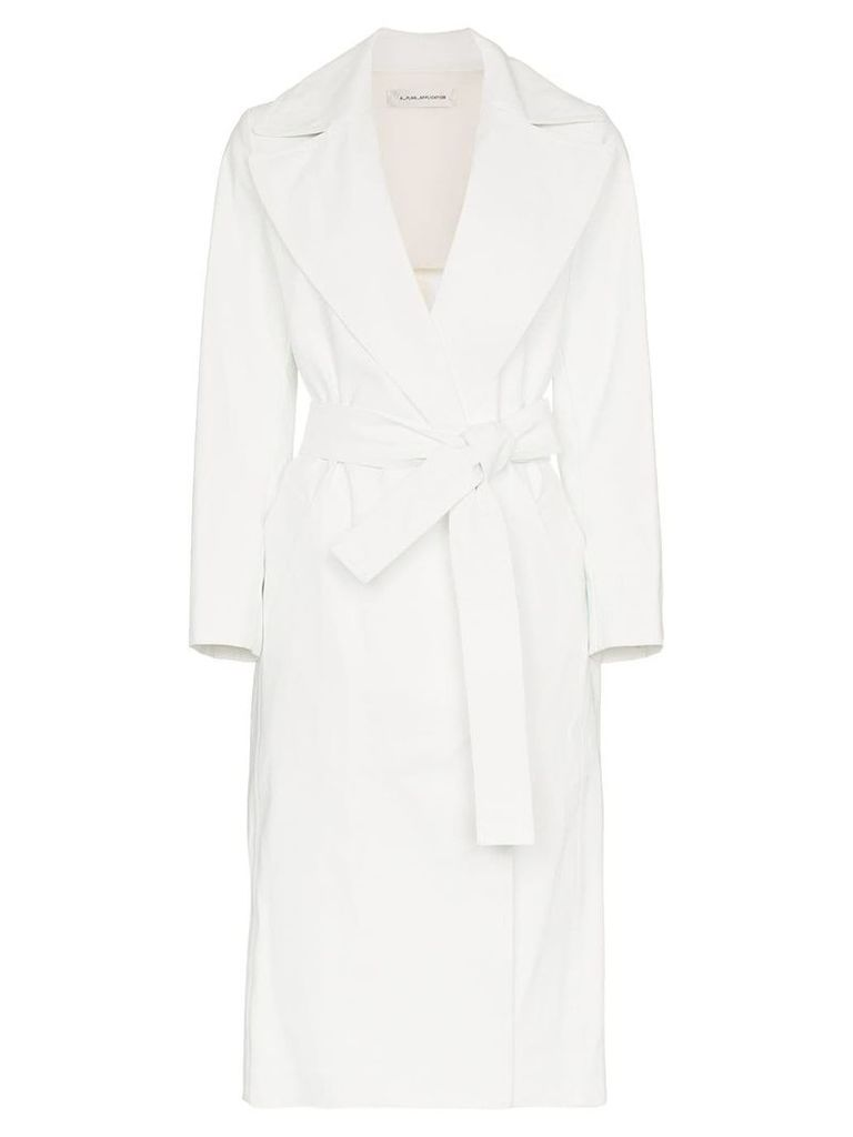 A Plan Application belted cotton blend trench coat - White