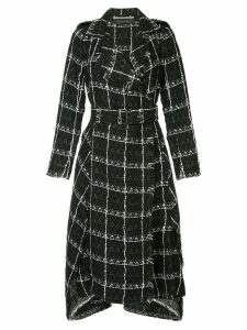 Roland Mouret frayed edge trench coat - Black