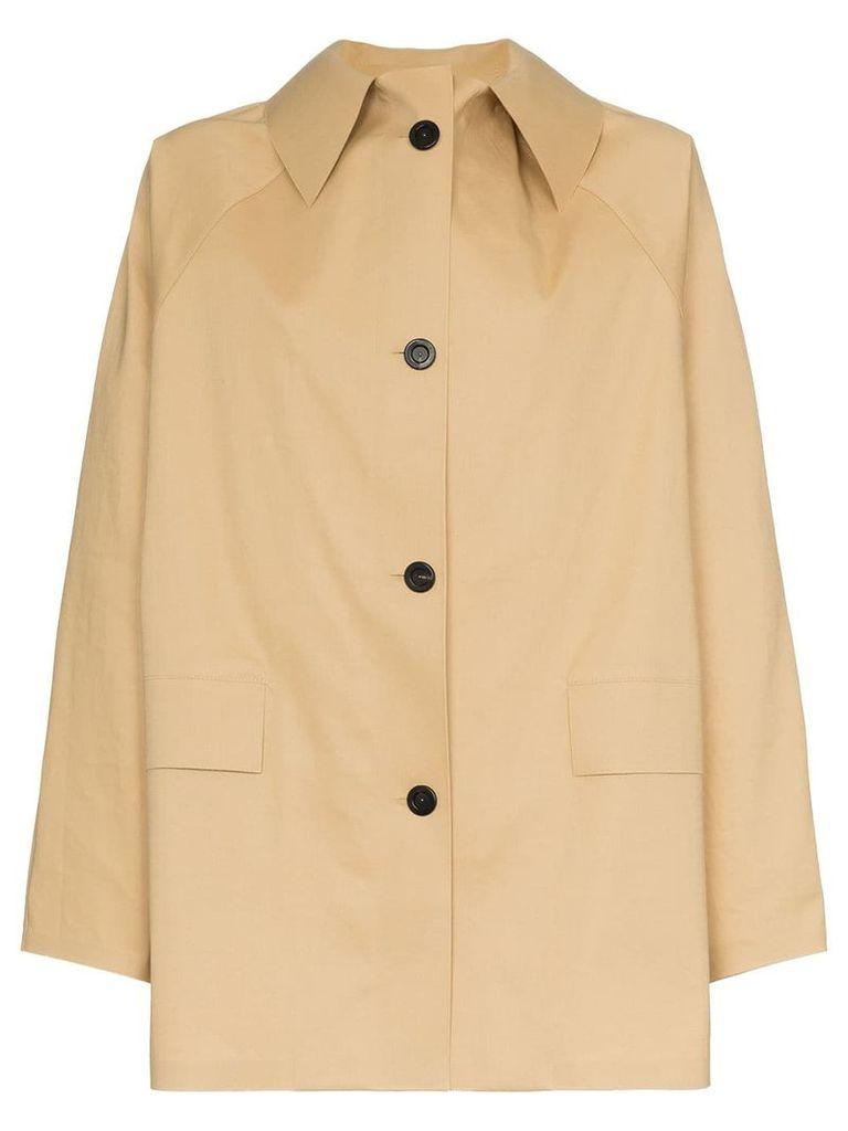 Kassl button down trench coat - Neutrals