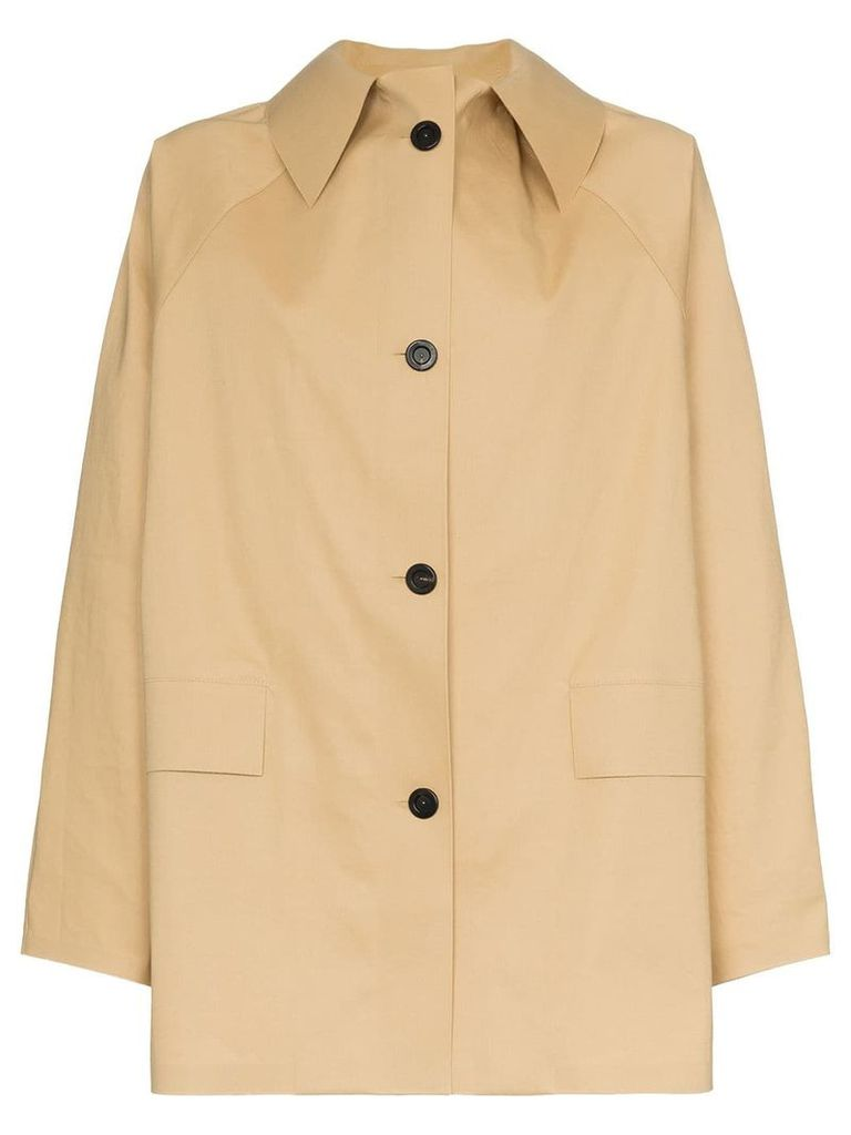 Kassl button down trench coat - Neutrals