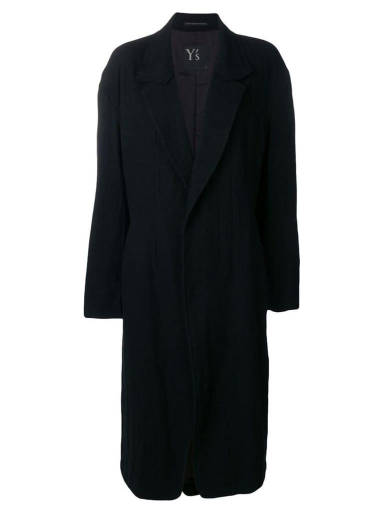 Y's loose overall coat - Black