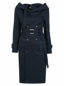Gloria Coelho off the shoulder trench coat - Blue