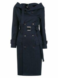 Gloria Coelho off the shoulder trench coat - Blue