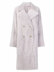Yves Salomon Lacon coat - Pink