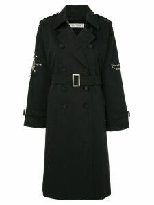Tu es mon TRÉSOR Bijou trench coat - Black