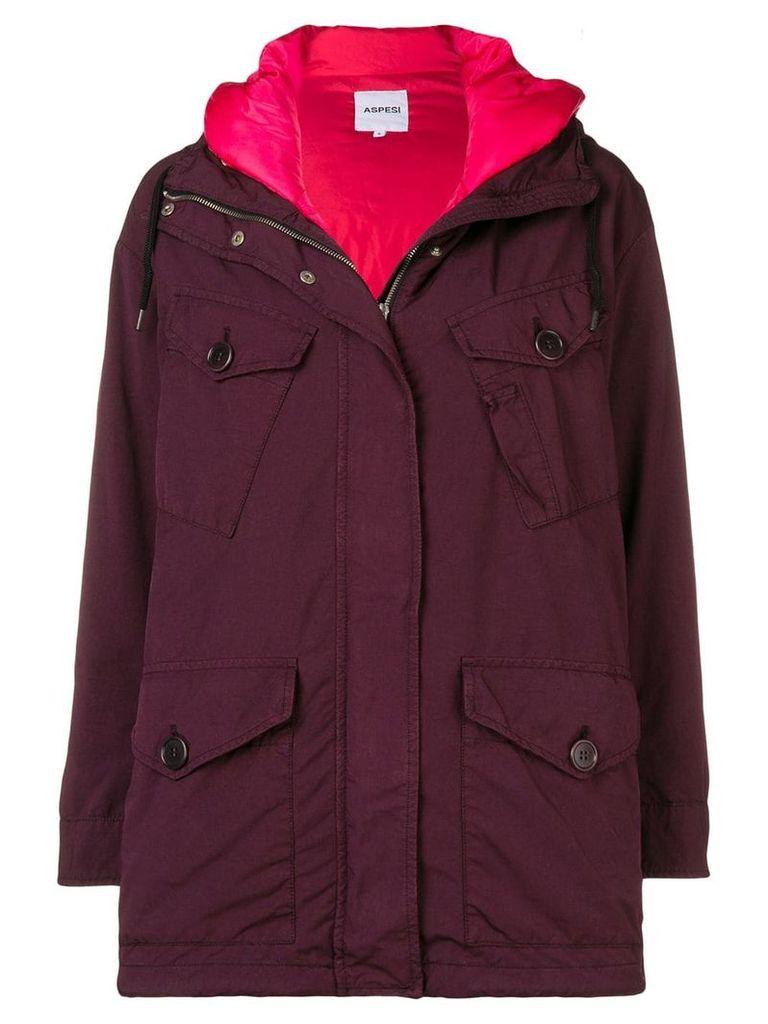 Aspesi oversized raincoat - Red