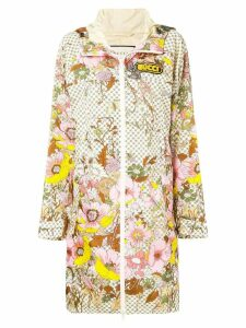 Gucci floral print raincoat - Neutrals