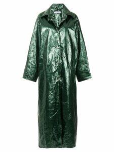Walk Of Shame glossy long raincoat - Green