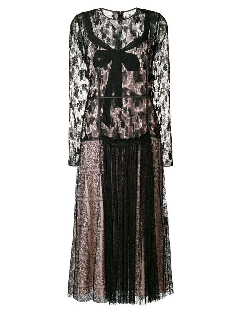 Bottega Veneta lace midi dress - Black