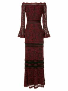 Tadashi Shoji off shoulder lace dress - Red
