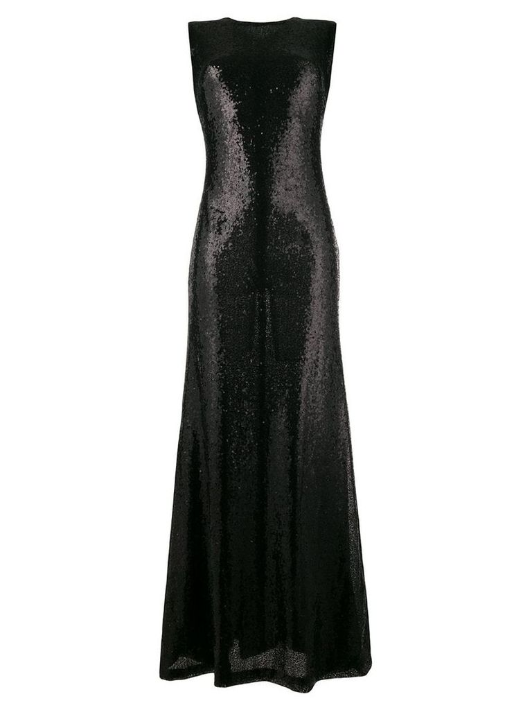 P.A.R.O.S.H. sleeveless sequin long dress - Black