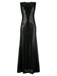 P.A.R.O.S.H. sleeveless sequin long dress - Black