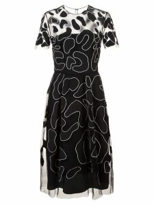 Carolina Herrera sheer animal jacquard dress - Black