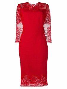 Ermanno Scervino lace midi dress - Red