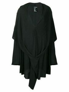 Ann Demeulemeester draped v-neck dress - Black