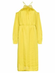 Low Classic shirring off the shoulder dress - Mustard