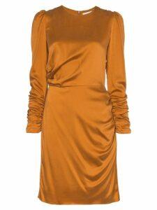 Zimmermann draped silk mini dress - Yellow