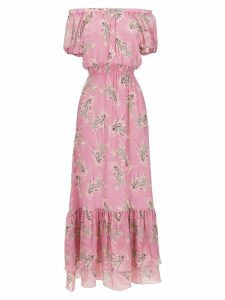 Clube Bossa La Pomme long silk dress - Pink
