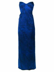 Tufi Duek embroidered bandeau gown - Blue