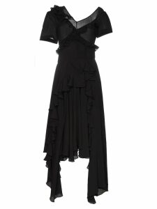 Preen By Thornton Bregazzi wendie ruffle detail dress - Black