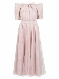 Gloria Coelho off the shoulder belted dress - Pink