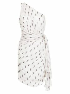 Tufi Duek one shoulder printed dress - White