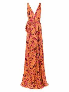 Tufi Duek printed long dress - Yellow