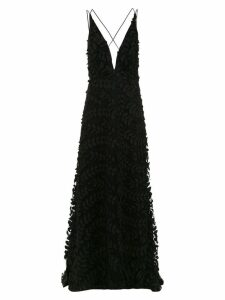 Tufi Duek embroidered long dress - Black