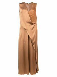 Sies Marjan draped long dress - Brown