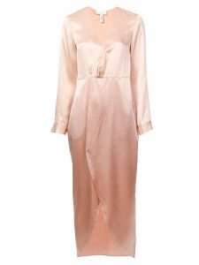 Fleur Du Mal plunging wrap-around dress - Pink