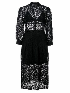 Fleur Du Mal Leopard lace dress - Black