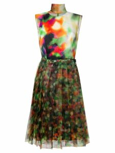 Prada gradient effect dress - Green