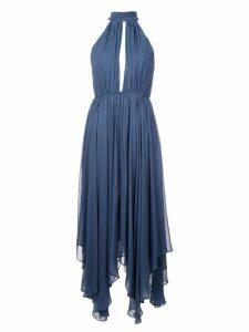 Fleur Du Mal keyhole halterneck dress - Blue