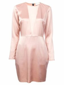 Fleur Du Mal plunging neck mini dress - Pink