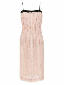 À La Garçonne midi fringed dress - Pink