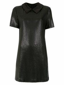 À La Garçonne sequin polo dress - Black