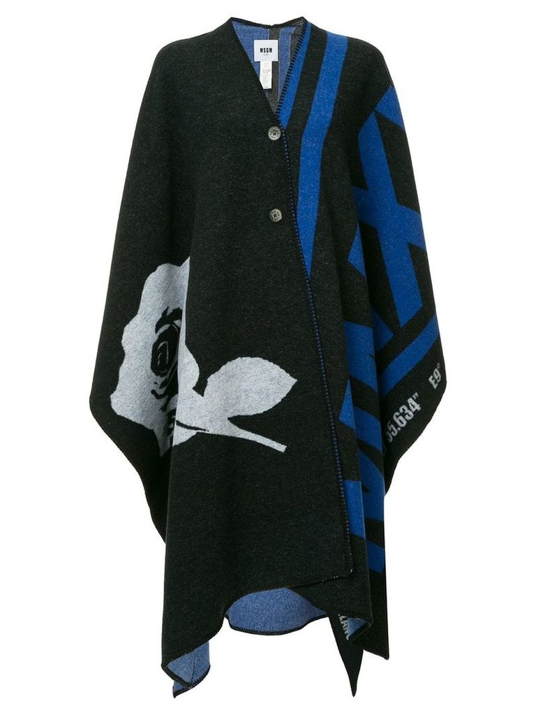 MSGM knitted cape - Black
