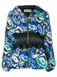 Emilio Pucci smocked waist jacket - Blue