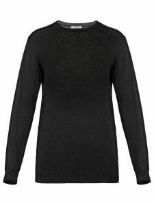 Prada round neck sweater - Black