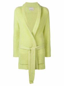 Laneus belted cardi-coat - Green
