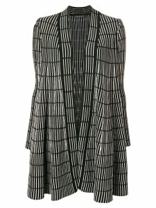 Antonino Valenti striped print cardigan-coat - Black