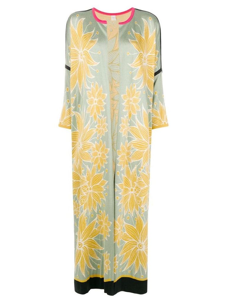 Chirazi floral print cardi-coat - Green